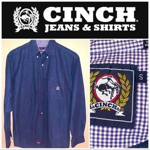 Small Blue Cinch Long Sleeve Shirt
